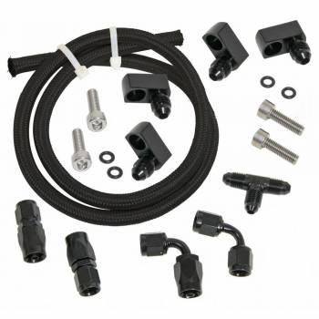 Trick Flow - Trick Flow Fitting/Hardware/Hose Steam Vent Kit 4 Corner Black GM LS-Series - Kit