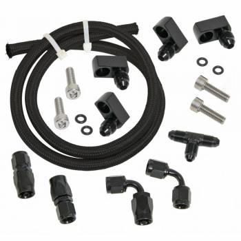 Trick Flow - Trick Flow Fitting/Hardware/Hose Steam Vent Kit 4 Corner Black GM LS-Series - Kit