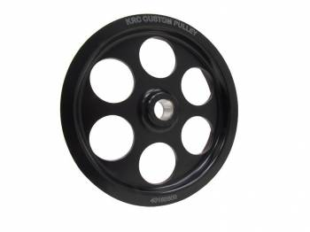 "KRC Power Steering - KRC Power Steering Serpentine Power Steering Pulley 6-Rib Press-On 6"" Diameter - Aluminum"