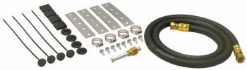 Derale Performance - Derale Performance Push Through Radiator Style Fluid Cooler Mount Kit Fittings/Hardware/Hose Nylon Black - Kit