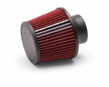 "Edelbrock - Edelbrock Pro-Flo Air Filter Element Conical 5-1/2"" Base - 4-3/4"" Top Diameter - 6-1/2"" Tall - Chrome/Red"