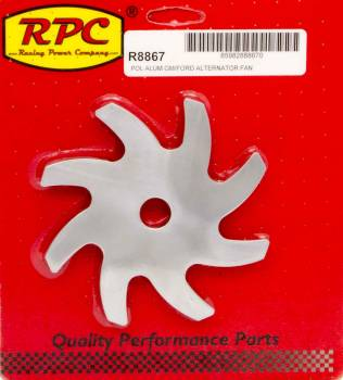 Racing Power - Racing Power Aluminum Alternator Fan Polished - Most GM-Delco/Ford Alternators
