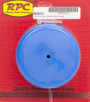 "Racing Power - Racing Power Thumbscrew Included Carburetor Cover Plastic - Blue 5-1/8"" Flange"