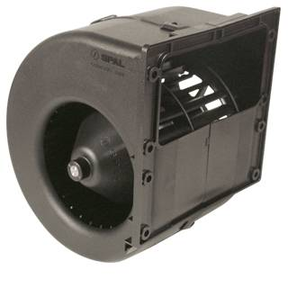SPAL Advanced Technologies - SPAL Advanced Technologies Centrifugal Blower Motor Single Wheel 12V Plastic - Black
