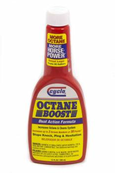 Cyclo Industries - Cyclo Industries Octane Boost Fuel Additive Octane Booster System Cleaner 12.00 oz Bottle - Gas