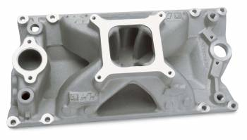 GM Performance Parts - GM Performance Parts Eliminator Intake Manifold Square Bore Single Plane Aluminum - Natural