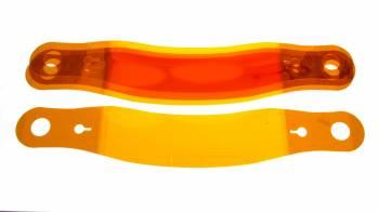 "Racing Optics - Racing Optics Amberstack 7 Helmet Shield Tear Off 2 mm Thick 11-1/2"" Center to Center Curved - Plastic"