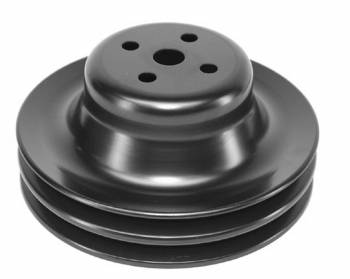 "Alan Grove Components - Alan Grove Components V-Belt Water Pump Pulley 2 Groove 6-1/4"" Diameter Steel - Black Paint"