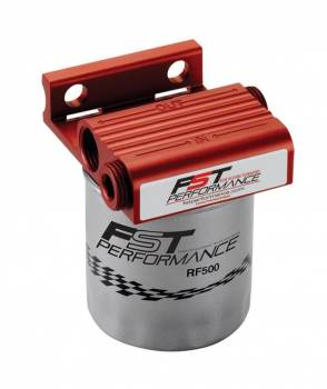 """FST Performance - Fst Performance FloMax 300 Fuel Filter Canister 4 Micron Stainless Element - 1/2"""" NPT Female Inlet/Outlet"""