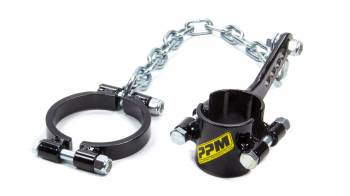 "PPM Racing Products - PPM Racing Products Bolt-On Suspension Travel Limiter Chains/Clamps 1-3/4"" Clamp Black Anodize - Rear Suspension"