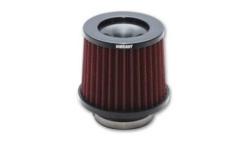 """Vibrant Performance - Vibrant Classic Air Filter Element Clamp-On Conical 6-3/4"""" Base - 5-1/4"""" Top Diameter - 6"""" Tall"""