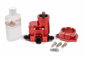 Waterman Racing Components - Waterman Racing Components Race Saver Hex Driven Fuel Pump 210 gph Three 6 AN Male Ports Aluminum - Red Anodize