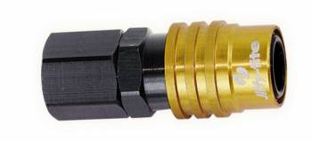 """Jiffy-tite - Jiffy-tite 2000 Series Quick Release Adapter Straight 1/8"""" NPT Female to Quick Release Socket Valved - FKM Seal"""