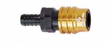 Jiffy-tite - Jiffy-tite 2000 Series Quick Release Adapter Straight 6 AN Hose Barb to Quick Release Socket Valved - FKM Seal