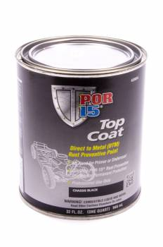 POR-15 - Por-15 Chassis Coat Paint Urethane Black 1 qt Can - Each