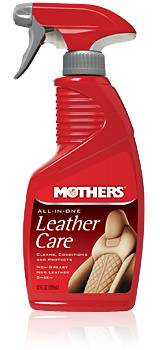 Mothers Polishes-Waxes-Cleaners - Mothers Polishes-Waxes-Cleaners All-In-One Leather Care Interior Protectant 12 oz Bottle
