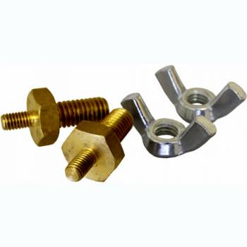 "TurboStart - Turbo Start Turbo Start 6 mm to 3/8"" Stud Battery Terminal Adapter Brass Natural Turbo Start 12 Volt Batteries - Kit"