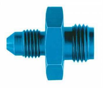 """Aeroquip - Aeroquip Adapter Fitting Straight 3 AN Male to 1/2-20"""" Inverted Flare Male Aluminum - Blue Anodize"""