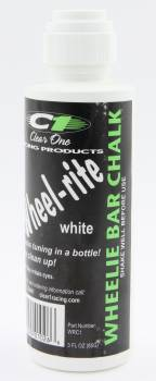 Clear 1 Racing - Clear 1 Racing Wheelie-Rite Wheelie Bar Marker Chalk White 3 oz Bottle/Applicator - Each