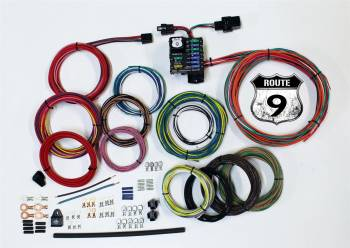 American Autowire - American Autowire Route 9 Complete Car Wiring Harness Complete 9 Power Outlets GM Color Code - Universal