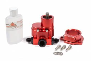 Waterman Racing Components - Waterman Racing Components Mini Sprint Hex Driven Fuel Pump 120 gph Three 6 AN Male Ports Aluminum - Red Anodize