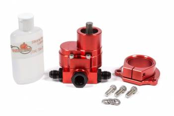 Waterman Racing Components - Waterman Racing Components Focus Hex Driven Fuel Pump 180 gph Three 6 AN Male Ports Aluminum - Red Anodize