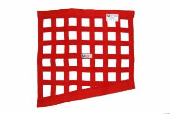 """RJS Racing Equipment - RJS Racing Equipment SFI-27.1 Window Net 1"""" Webbing Triangle Red - Drag Race"""