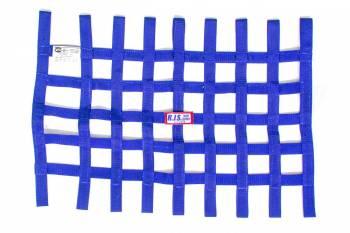 "RJS Racing Equipment - RJS Ribbon Window Net - Blue - 18"" x 24"""