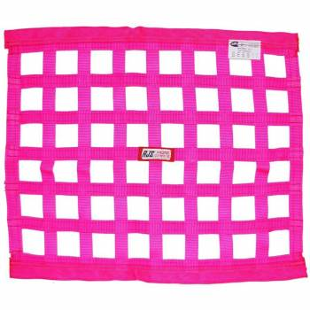 "RJS Racing Equipment - RJS Racing Equipment SFI-27.1 Window Net 1"" Webbing 18 x 24"" Rectangle Pink - Each"
