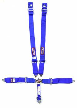 """RJS Racing Equipment - RJS 5-Point Quick Release Camlock Harness System - Blue - Individual Shoulder Harness - Bolt-In - 2"""" Anti-Submarine Belt"""