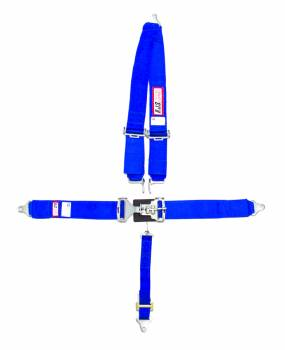 "RJS Racing Equipment - RJS 5-Point Latch Type Restraint System - Bolt-In - Roll Bar Mount Shoulder Harness - 2"" Anti-Submarine Strap - Blue"