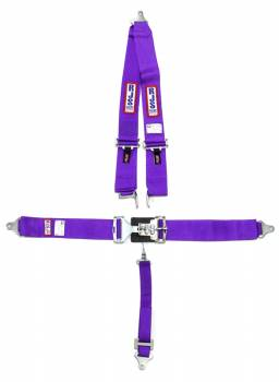 "RJS Racing Equipment - RJS 5-Point Latch Type Restraint System - Roll Bar Mount - Purple - 2"" Anti-Submarine Belt"