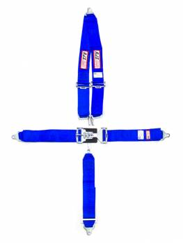 "RJS Racing Equipment - RJS 5-Point Restraint System - Bolt-In - Roll Bar Mount Shoulder Harness - 3"" Anti-Submarine Strap - Blue"