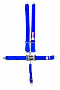 """RJS Racing Equipment - RJS 5-Point Restraint System - Individual Shoulder Harness - Bolt-In Mount - 2"""" Anti-Sub - Blue"""