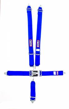 "RJS Racing Equipment - RJS 5-Point Restraint System - Individual Shoulder Harness - Bolt-In Mount - 3"" Anti-Sub - Blue"