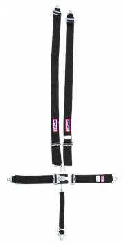 "RJS Racing Equipment - RJS 5-Point Restraint System - Individual Shoulder Harness - Wrap Around Mount Shoulder Harness (Only) - Lap Belts Bolt-In Mount - 2"" Anti-Sub - Black"