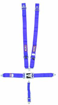 """RJS Racing Equipment - RJS 5-Point Restraint System - Individual Shoulder Harness - Wrap Around Mount Shoulder Harness (Only) - Lap Belts Bolt-In Mount - 2"""" Anti-Sub - Blue"""