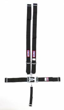 "RJS Racing Equipment - RJS 5-Point Harness System w/ 2"" Anti-Sub Belt - Wrap Around Mount - Black"