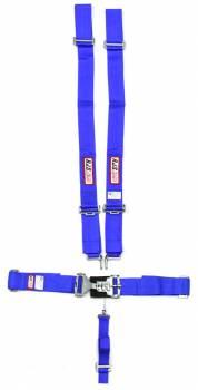 "RJS Racing Equipment - RJS 5-Point Harness System w/ 2"" Anti-Sub Belt - Wrap Around - Blue"