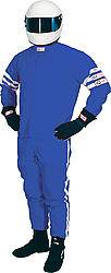 RJS Racing Equipment - RJS Proban Driving Suit Pants (Only) - 1 Layer - Blue - Medium