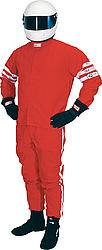 RJS Racing Equipment - RJS Proban Driving Suit Pants (Only) - 1 Layer - Red - Large
