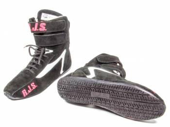 RJS Racing Equipment - RJS Racing Equipment Driving Shoe High-Top SFI-3.3/5 Nomex®/Leather - Black - 9 Mens 10-1/2 Womens