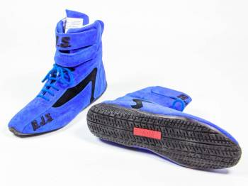 RJS Racing Equipment - RJS Racing Equipment Driving Shoe High-Top SFI-3.3/5 Nomex®/Leather - Blue - 12 Mens 13-1/2 Womens