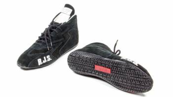 RJS Racing Equipment - RJS Racing Equipment Driving Shoe Mid-Top SFI-3.3/5 Nomex®/Leather - Black - 5 Mens 6-1/2 Womens