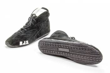 RJS Racing Equipment - RJS Racing Equipment Driving Shoe Mid-Top SFI-3.3/5 Nomex®/Leather - Black - 16 Mens 17-1/2 Womens
