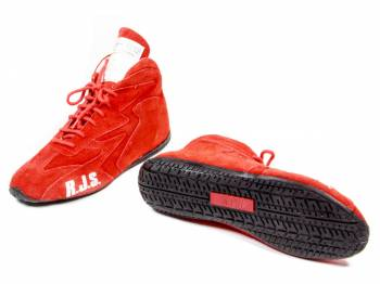 RJS Racing Equipment - RJS Racing Equipment Driving Shoe Mid-Top SFI-3.3/5 Nomex®/Leather - Red - 5 Mens 6-1/2 Womens