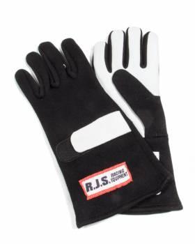 RJS Racing Equipment - RJS Nomex® 2 Layer Driving Gloves - Black - Medium