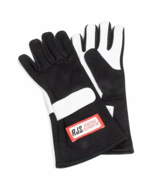 RJS Racing Equipment - RJS Nomex® 1 Layer Driving Gloves - Small - Black