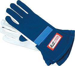 RJS Racing Equipment - RJS Nomex® 1 Layer Driving Gloves - Blue - Large