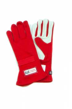 RJS Racing Equipment - RJS Nomex® 1 Layer Driving Gloves - Red - Large